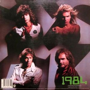 Van Halen - 1984-back cover